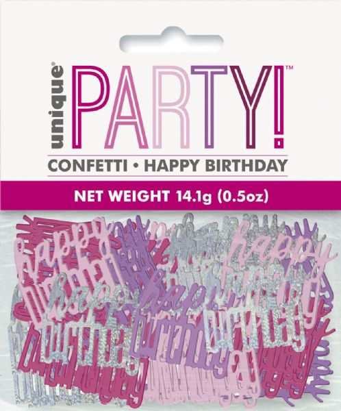 Glitz Pink Happy Birthday Table Confetti